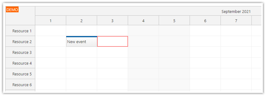 how to use tab and shift tab to move the scheduler keyboard focus