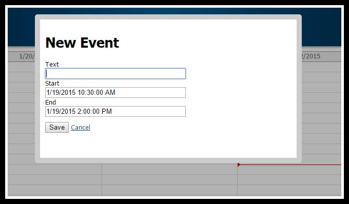 asp.net mvc 5 event calendar create modal