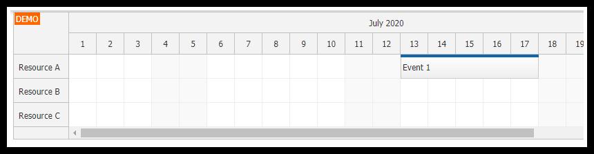 javascript html5 scheduler asp.net core mvc event data