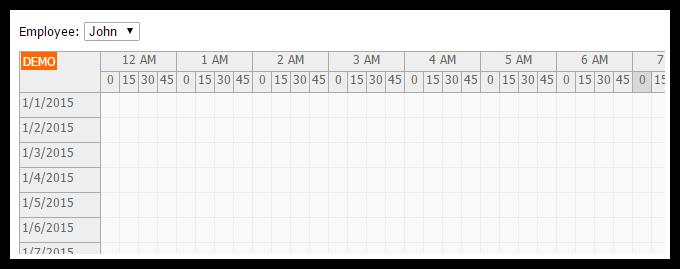 asp.net mvc 5 timesheet employee filter