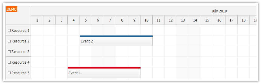 javascript scheduler event swapping drag and drop after