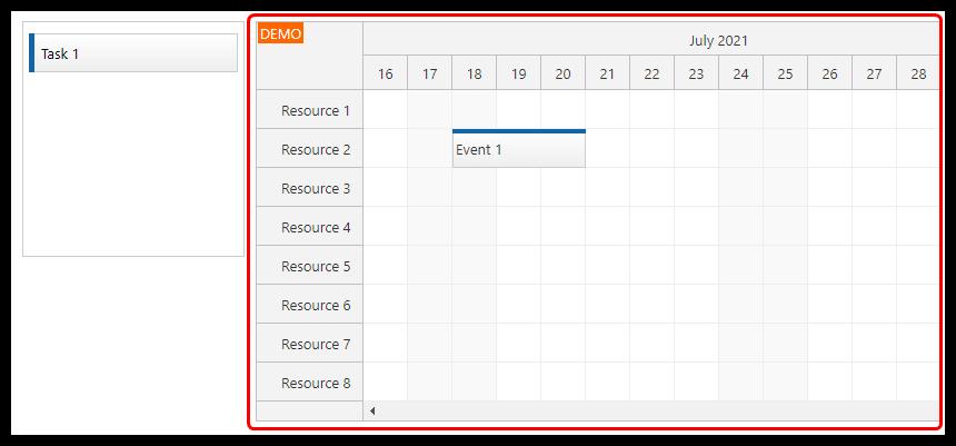 vue scheduler timeline grid