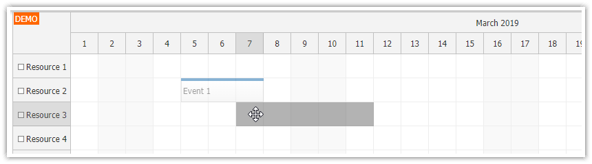 javascript scheduler skip non business event moving