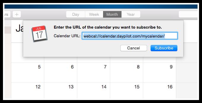 icalendar mac os x calendar