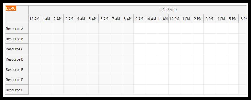 react scheduler component resources
