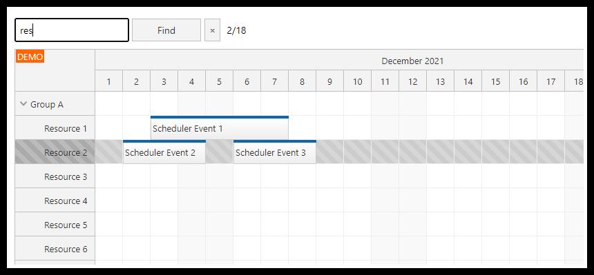 angular scheduler row searching tutorial typescript find next