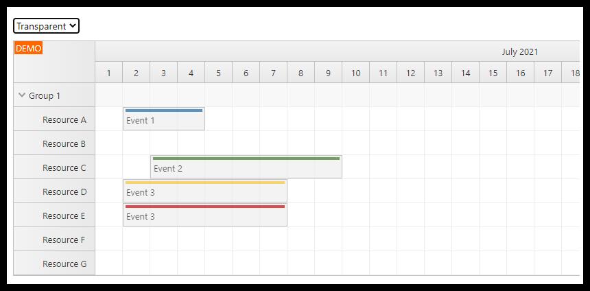 react scheduler css theme transparent