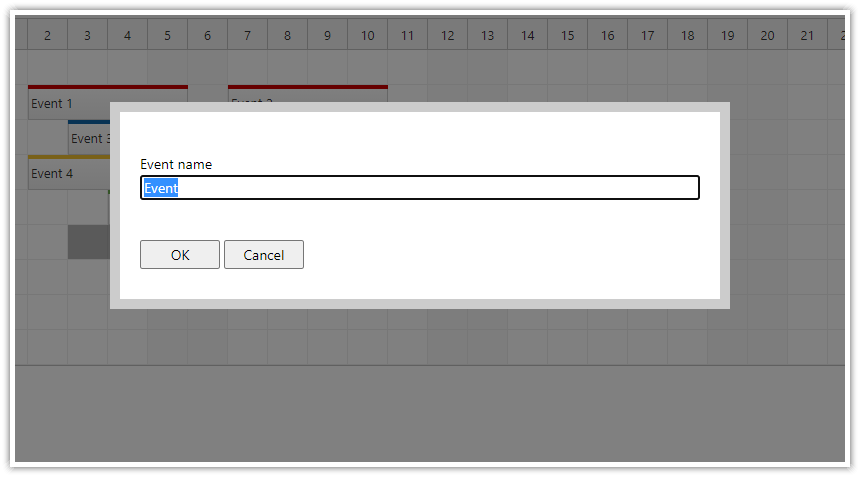 html5 javascript scheduler spring boot java event creation