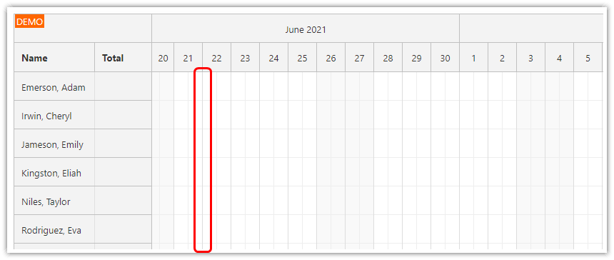 php annual leave scheduling tutorial day separators