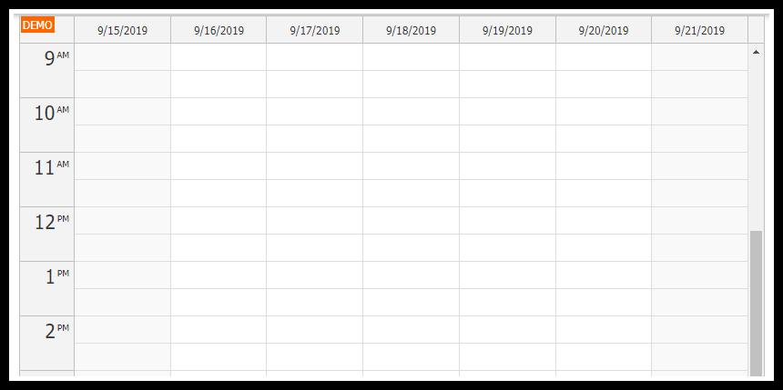 vue.js weekly calendar component