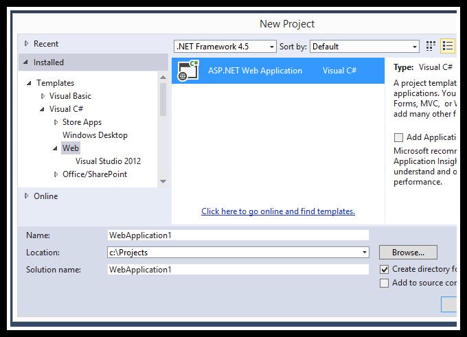 asp.net mvc 5 event calendar new web application