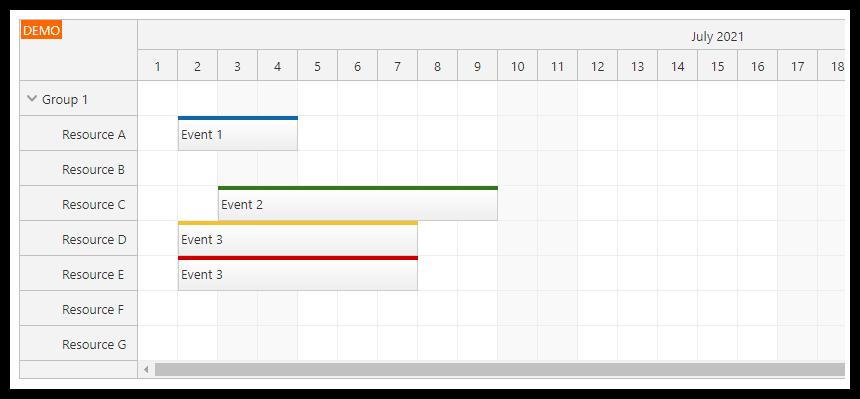 react scheduler css theme row header padding default
