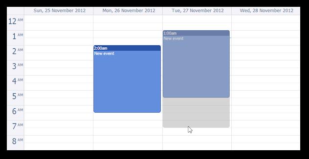 ajax event calendar java jquery event resizing