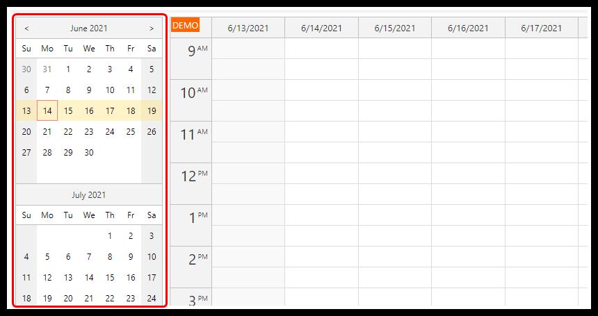 html5 javascript event calendar spring boot java date picker