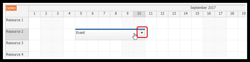 html5 javascript scheduler spring boot java event active area