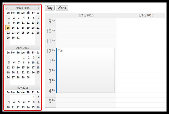 angularjs event calendar navigator