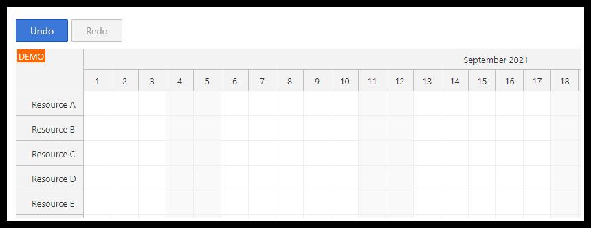 react scheduler under redo buttons