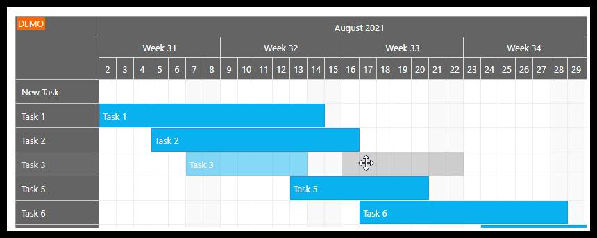 gantt chart asp.net move task drag drop