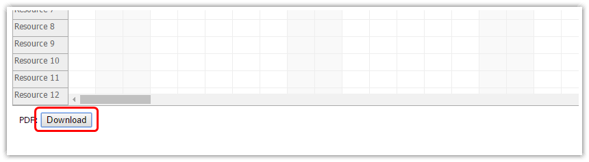 html5 scheduler pdf export download