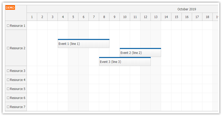 javascript scheduler event placement forcing a line