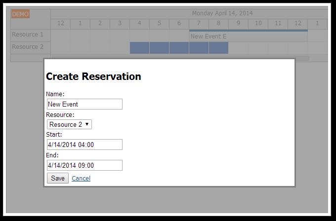 scheduler asp.net create modal