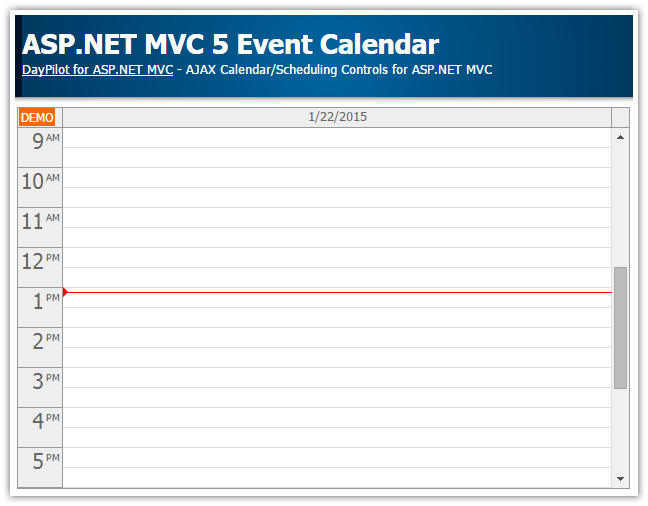 asp.net mvc 5 event calendar simple