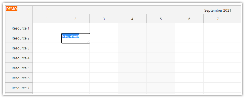 how to edit events inline using enter key
