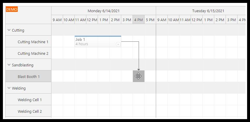 php machine production job scheduling html5 mysql follow up