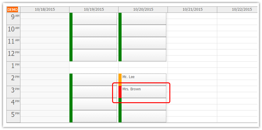 angularjs doctor appointment scheduling php slot confirmed