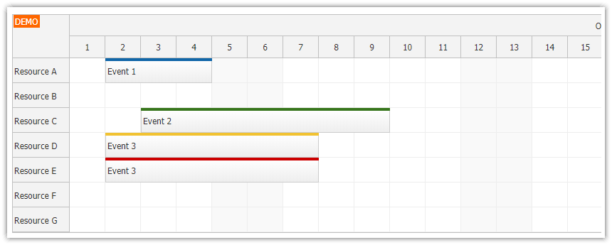 react scheduler component loading events