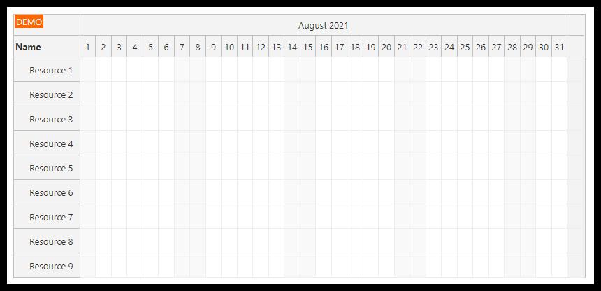 javascript scheduler summary column empty