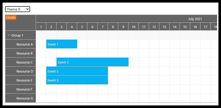 react scheduler css theme 8