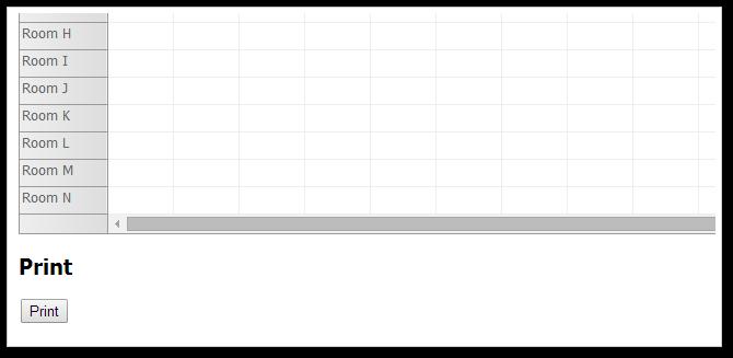 asp.net scheduler print button