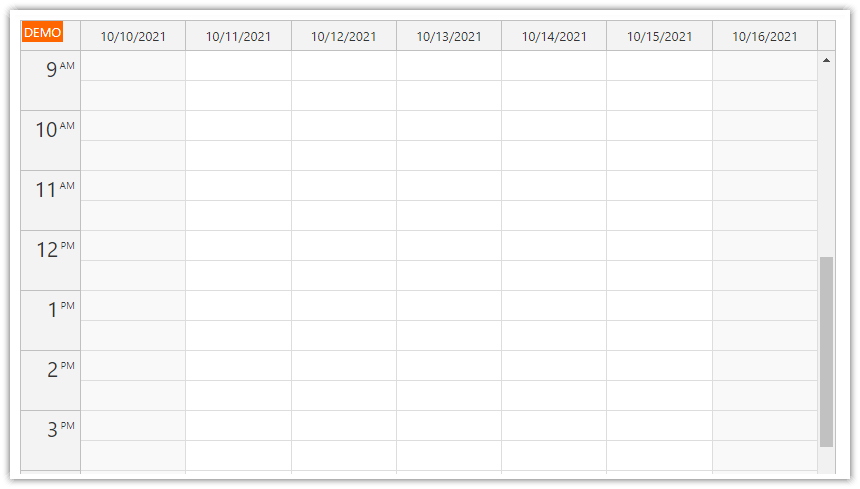 react weekly calendar tutorial week date
