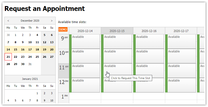 asp.net doctor appointment scheduling public interface