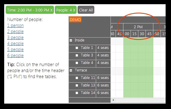 restaurant table reservation asp net filter time