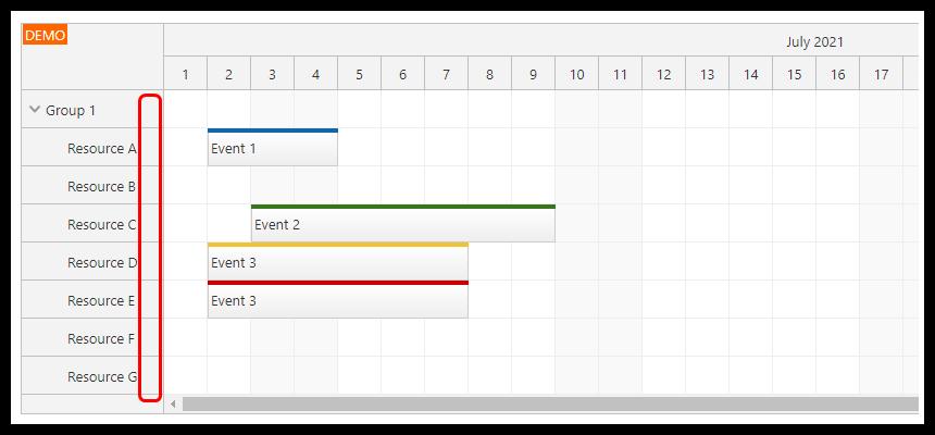 react scheduler css theme row header padding 20px