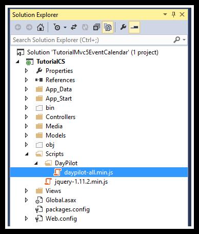 asp.net mvc 5 event calendar javascript library