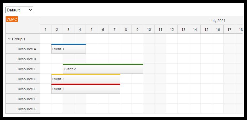 react scheduler css theme default