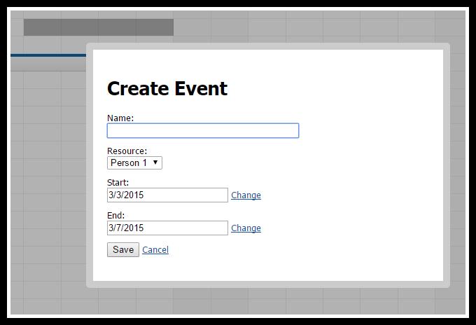 angularjs scheduler create event
