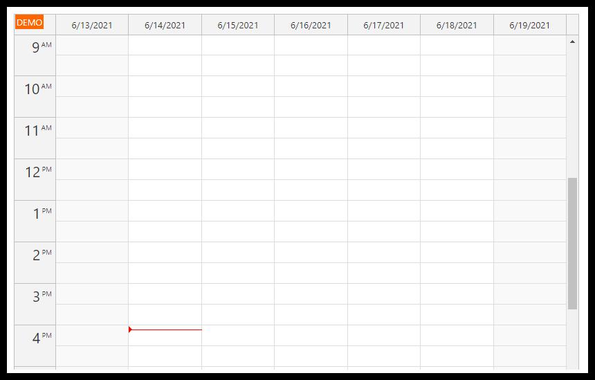 html5 javascript event calendar spring boot java week