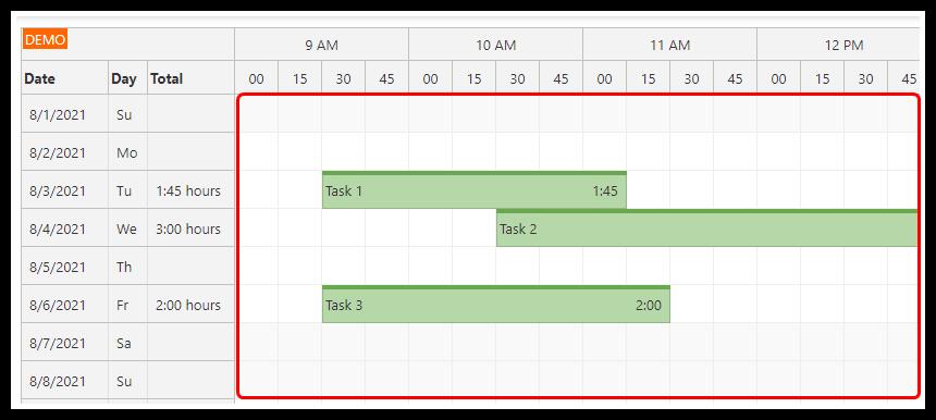 angular 12 timesheet quick start project load records