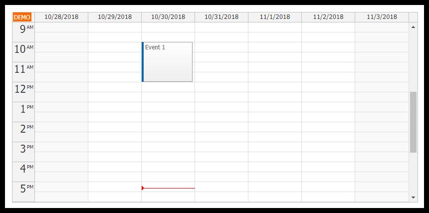 angular calendar component week view