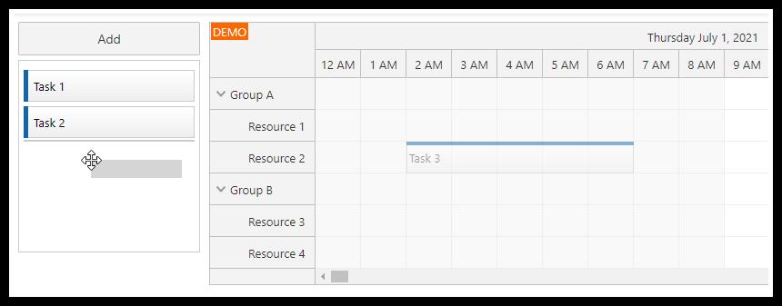 angular scheduler drag tasks from the scheduler