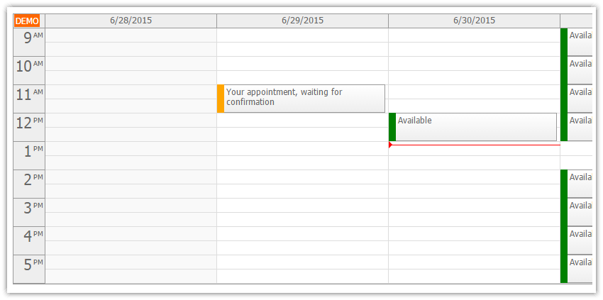 asp.net doctor appointment scheduling waiting