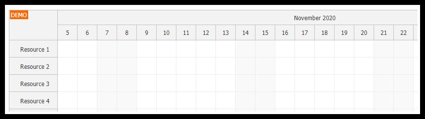 javascript scheduler keyboard navigation activated