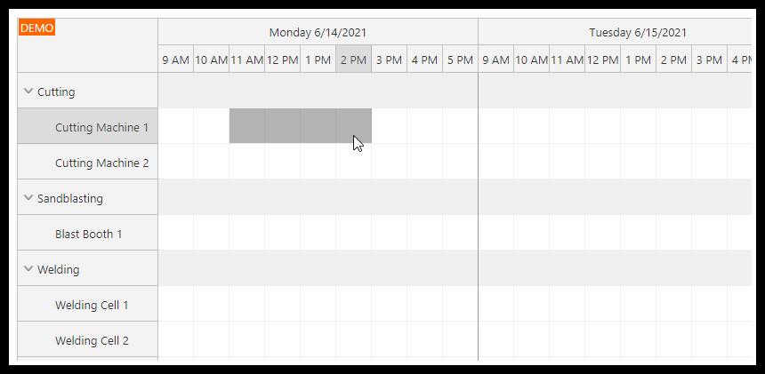 php machine production job scheduling html5 mysql new job