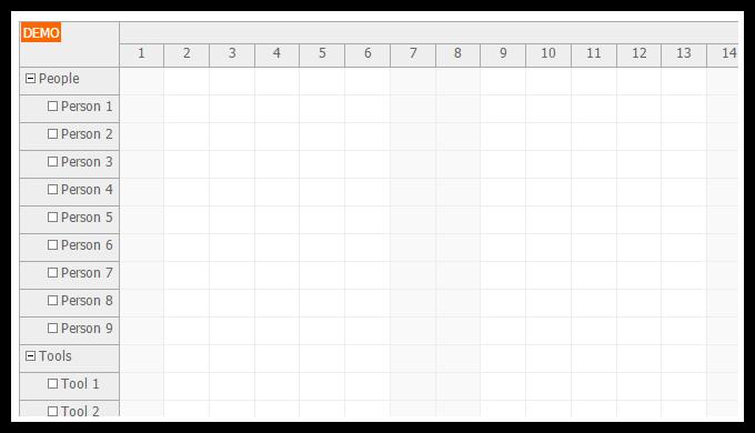 angularjs scheduler resources