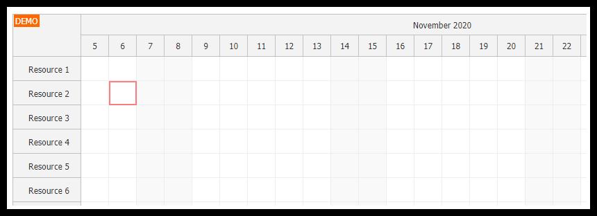 javascript scheduler enable keyboard access