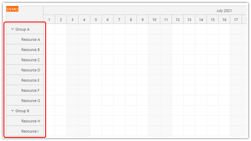 react scheduler how to load resource data